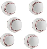 WEIYON Baseball Practice Baseball,2.8inch Adult/Youth Blank Baseball for League Play, Practice, Competitions,