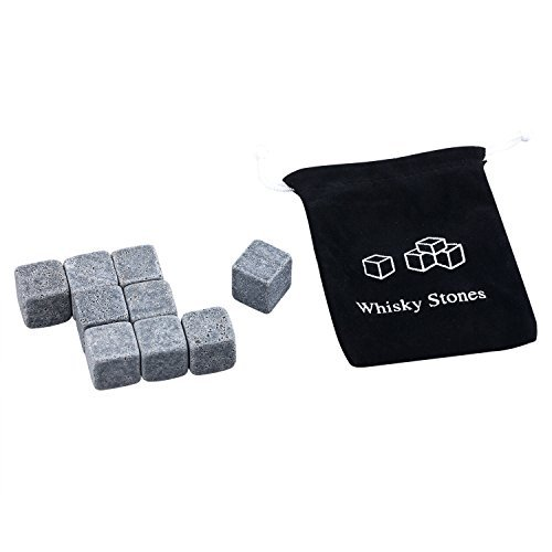Dry Ice Cubes (TRIXES 9 Piece Quality Granite Whiskey Stones Dry Ice Cube Rocks)