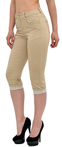 By Tailles Capri Jean J246 J242 Femmes Grandes tex Pantalon En beige Femme Pour rqwzrfS6