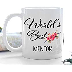 Thank You Gift for Mentor Mug Retirement Coffee Cup World39;s Best Ideas for Men Women Coworker Boss Appreciation Christmas Retired 2018 2019