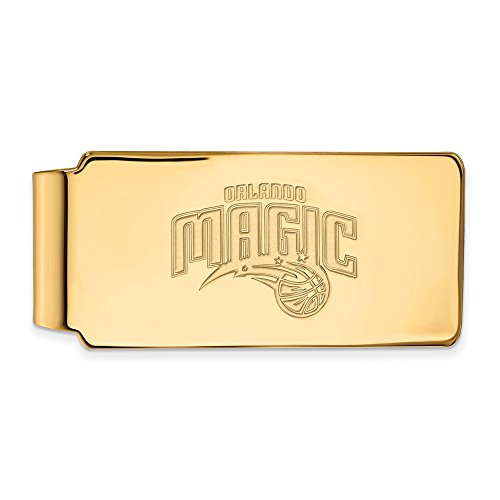 NBA Orlando Magic Money Clip in 10K Yellow Gold by LogoArt