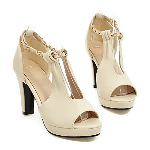 Ouvert Bout Blanc Femme SLC04220 AdeeSu 5EwqRR