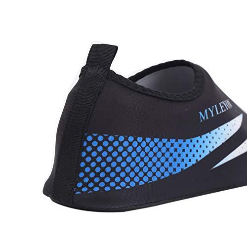 Con Calzado Estampado Flexible Leezo Azul Transpirable De Zapatos Y Agua IUZxP1pnqw