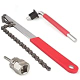 Bike Cassette Removal Tool with Chain whip and Auxiliary Wrench Bicycle Sprocket Removal Tools Sprocket Remover