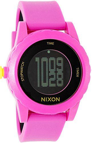 NIXON Women's A326-644 Plastic Analog Black Dial Watch (Genie Watches Nixon)