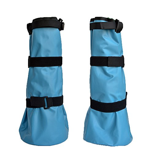 Yeezo Hoof Soaking Boot Horse Soaker Hooves Treatment Bag with EVA Pad 1 Pair (Blue)