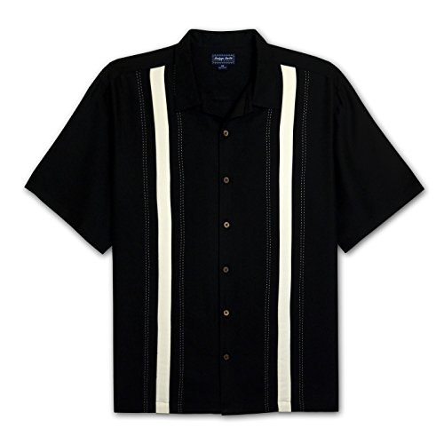Panel Camp Shirt (Indygo Smith Big and Tall Panel Camp Shirt (Black 2X-T))
