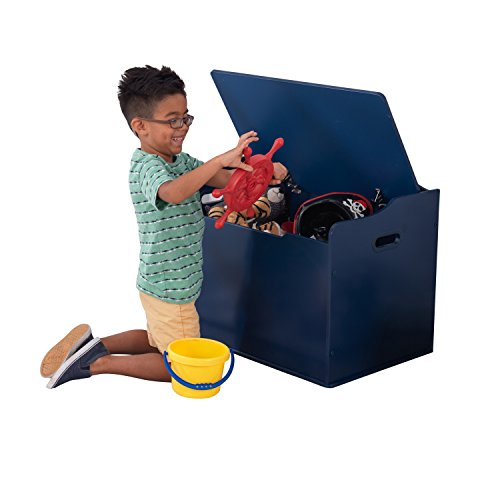 "41VyQNfk ML - KidKraft 14959 Austin Toy Box, Blueberry, 30Lx18Wx21.25""H"
