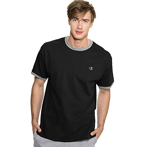 Champion Mens Cotton Jersey Ringer T Shirt T2232 -Chalk Whit -Xl T2232