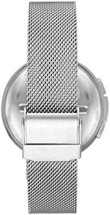 Skagen Connected Women's Signatur T-Bar Stainless Steel Mesh Hybrid Smartwatch, Color: Silver (Model: SKT1400) 4