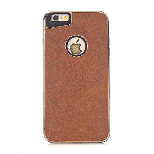 Phone Taschen & Schalen Für iPhone 6 Plus und 6s Plus Crazy Horse Textur Galvanik Rückseite ( Color : Yellow )