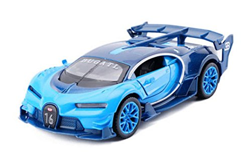 Diecasts & Toy Vehicles - New 1:32 Bugatti Vision GT Gran Turismo Car Model Toy with Pull Back Musical Flashing Fast Furious Need Speed Car for Kids Toy - by SINAM - 1 PCs