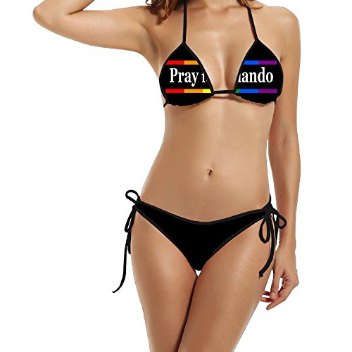 Women's' Pray For Orlando Rainbow Ribbon Hot Swimsuit
