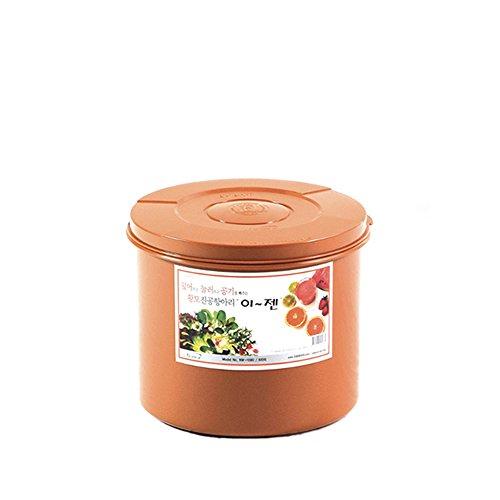 E-Jen Premium Kimchi, Sauerkraut Container Probiotic Fermentation with Inner Vacuum Lid Round (2.1 gal/8L) by e-jen