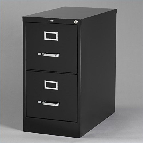"25"" Deep Commercial 2 Drawer Letter Size High Side Vertical File Cabinet Color: Black"