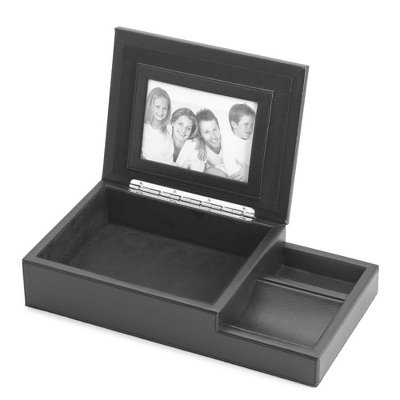 Things Remembered Personalized Pebble Grain Valet Box with Engraving Included