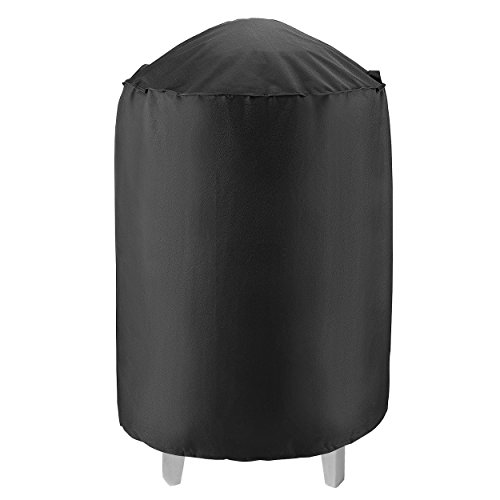 UNICOOK Heavy Duty Waterproof Dome Smoker Cover, 30″ Dia by 36″ H,Kettle Grill Cover, Barrel Cover,Water Smoker Cover,Fit Grill/Smoker for Weber Char-Broil and more Review