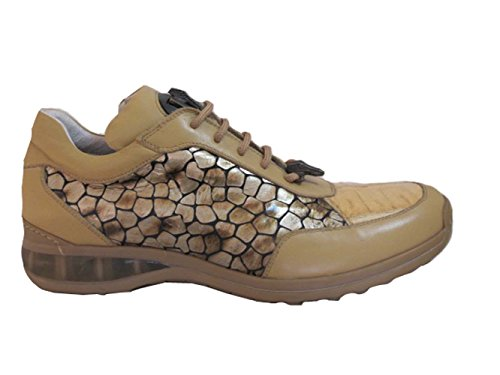 Mauri 8741 Hombres Sneakers Crcodile Tip Tan