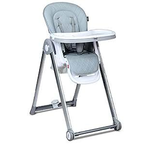 Amazon.com: INFANS Silla alta plegable para bebés y niños ...