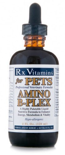 Rx Vitamins for Pets Amino B-Plex for Dogs & Cats - Healthy Nutrients Enhance Energy Metabolism & Vitality - Bacon Flavor 4 fl. oz.