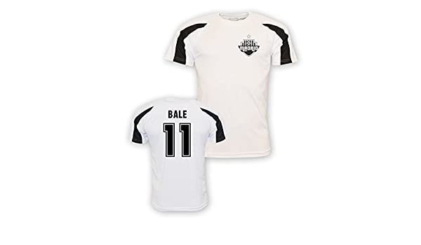 Amazon.com   Gareth Bale Real Madrid Sports Training Jersey (White)    Sports   Outdoors 3f53bad62