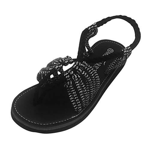 Bianca Sandali Peep Moda Intrecciati Romani Casual Boemia Donna Toe Eleganti Piatte Sandali Spiaggia Nylon Minetom Estiva Scarpe q1aBA