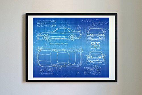 DolanPaperCo #279 Nissan Skyline R32 GT-R 1989 Art, used for sale  Delivered anywhere in USA