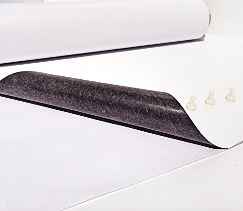 Ferro schermo–Pellicola di ferro bianco opaco pellicola autoadesiva, 200mm x 500mm x 0,6mm autoadesivo–Primer per calamita Smagtron Magnettechnik 6mm