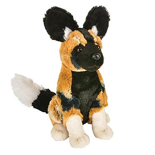 - African Wild Dog Sitting Plush Toy