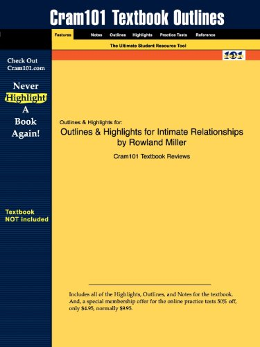 Outlines & Highlights for Intimate Relationships by Rowland Miller