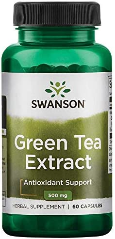 Swanson Green Tea Extract 500 Milligrams 60 Capsule