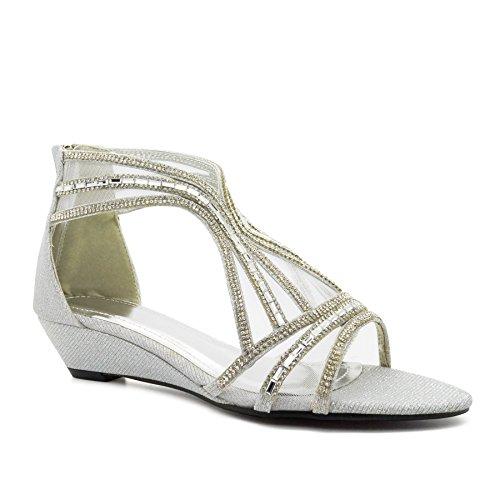 Femme Bride Cheville Footwear Silver De London 8TqaCwx