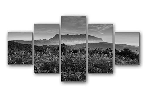 Chiang Mai Thailand Chiang Dao Mountain wildlife sanctuaries - 5 Panels Wall Art Canvas stretched With Wooden Frame for Home Decor - Ready To Hang (8