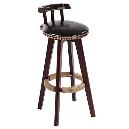 Cowhide Barstools Vintage Black White Hairhide Leather Bar: Amazon.com: Lh$yu Retro Kitchen Stools Wooden Legs High