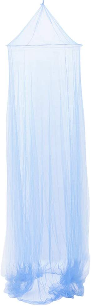 Garneck Round Lace Bed Canopy Mosquito Net Curtains Princess Dome Netting Insect Protection Hanging Canopy Girl Play Tent Sleeping Room Decor (Dark Blue)