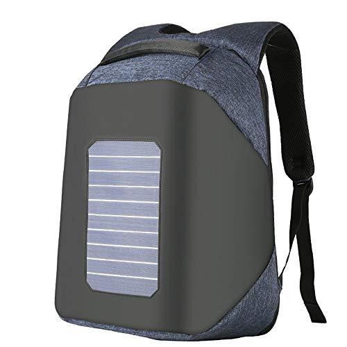 TDPYT Solarbetriebene Rucksack Anti-Diebstahl-Laptop-Tasche Travel Wasserdichte Rucksack