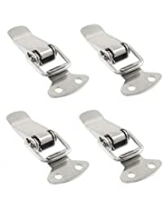 [ 4 Pieces ] 304 Stainless Steel Spring Toggle with Lock Hole and Without Lock Hole Toggle Latch (58mm Length, no Lock Hole)
