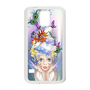 Samsung Galaxy S5 Cell Phone Case White Fairy Phone Case Cover For Guys XPDSUNTR24815