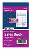 Adams General Purpose Sales Book, 2-Part, Carbonless, White/Canary, 3-11/32 x 5-5/8 Inches, 50 Sets/Book, 3 Books (DC3530)
