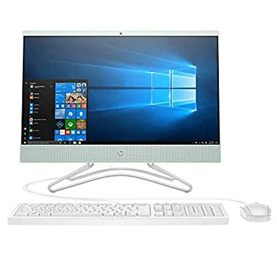 "Flagship 2019 Premium HP 24 23.8"" All in One Micro-Edge 1080P FHD IPS Touchscreen Desktop Intel Quad-Core Pentium Silver J5005 8GB DDR4 128GB SSD+1TB HDD DVDRW Bluetooth HDMI WLAN Webcam Win 10 - Mint"