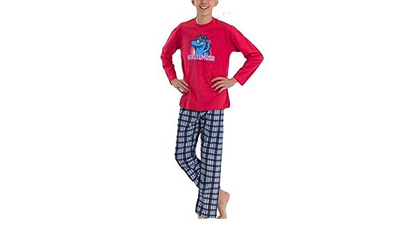Kukuxumusu - Pijama NIÑOS TURURU Hombre Color: Rojo Talla: 10 ...