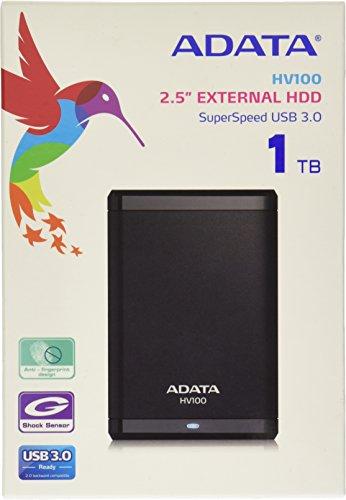 Adata HV100 Disco Duro Externo de 1TB, color Negro