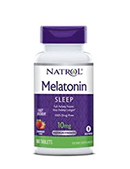 Natrol Melatonin Fast Dissolve Tablets, Citrus Punch flavor, ...