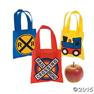 Train Party Mini Tote Bags - 12 -