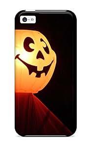 Pretty LJDgayO4028NPCvY Iphone 5c Case Cover/ Halloween Pumpkin Orange Red Black Light Yellow Halowen Haloowen Hallooween Hallowen Haloween Costum Holiday Halloween Series High Quality Case