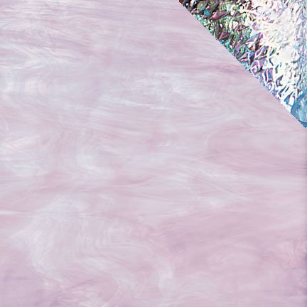 Spectrum Pale Lavender/White Opal Iridescent Stained Glass 8 x 12 Hobby Sheet I84371 ()