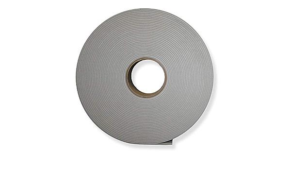 3 Rolls Gray 1//8 x 2 x 75 PVC Foam Tape