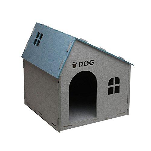 Wunderhaus Dog House DIY, Alps Indoor Dog House, Sound-dampening (Large, Blue/Grey)