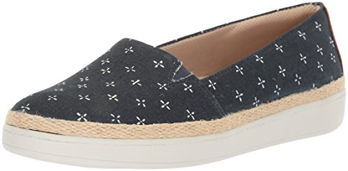 Trotters Women's Accent Ballet Flat, Navy/White, 7.0 M US