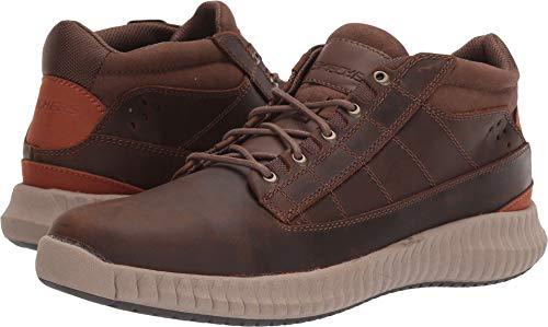 Skechers Brendo Captor Mens Mid Top Sneaker Oxfords Dark Brown 9.5